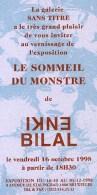 BILAL : Carte Invitation Dedicace Librairie Sans Titre - Bilal