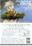 BILAL : Carte Presentation + Carte Postale SALON SOLLIES 2005 - Bilal
