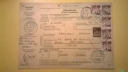 RICEVUTA BOLLETTINO POSTALE GERMANIA 1969 ALDINGEN-ANCONA  BOLLI VARI E PACCHI POSTALI - [7] Repubblica Federale