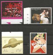Belgium - 2000 Fine Arts MNH **    Sc 1831-4 - Unused Stamps