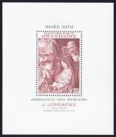 Rwanda 'Adoration Of The Shepherds' By Jordaens Christmas MS SG#MS506 SC#494 - 1970-79: Neufs
