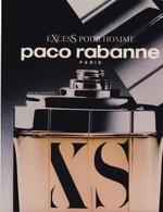 CARTE  PUBLICITAIRE,,,,,, PARFUM  PACO  RABANNE ,,,, EXCESS POUR  HOMME ,,,,,TBE - Perfume & Beauty