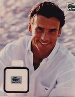 CARTE  PUBLICITAIRE ,,, PARFUM  LACOSTE ,,, T BE,,,,, - Perfume & Beauty