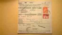 RICEVUTA BOLLETTINO POSTALE SVIZZERA 1965 LOSANNE-BELLUNO BOLLI VARI E - Storia Postale