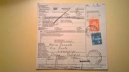 RICEVUTA BOLLETTINO POSTALE SVIZZERA 1967 GENEVE-TREVISO BOLLI VARI E PACCHI POSTALI - Storia Postale