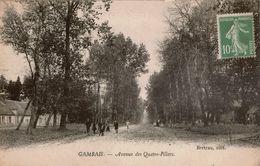 Cpa 78 GAMBAIS  Avenue Des Quatre-Piliers , Animation , Peu Courante, Timbre Non Oblitéré - Autres Communes