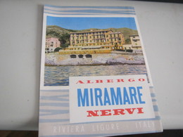 DEPLIANT ALBERGO MIRAMARE NERVI - Tourism Brochures