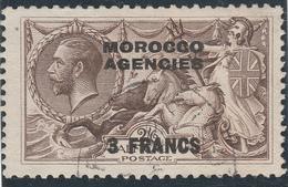 Marocco Agencies - Alto Valore 3 Franc Usato Del 1918 - Marruecos (1956-...)