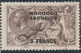 Marocco Agencies - Alto Valore 3 Franc Usato Del 1918 - Marocco (1956-...)