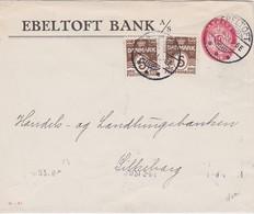 DANEMARK 1921 ENTIER POSTAL LETTRE DE ERELTOFT - Postwaardestukken