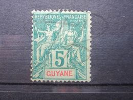 VEND TIMBRE DE GUYANE N° 33 , NEUF AVEC CHARNIERE !!! - Guyane Française (1886-1949)