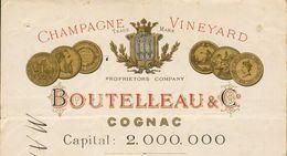 16 - Cognac - Charente  - Champagne Vineyard - Trade Mark - Proprietors Company - Boutelleau & C° Cognac. - - Alcohols