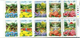 PIA  -  Canada  -  1991  : Giardini Pubblici - Carnet -   (Yv C 1185-89 X 2 ) - 1952-.... Regno Di Elizabeth II