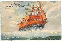 CPA PK   UN BONJOUR DE BLANKENBERGE  CARTE A SYSTEME - Belgique