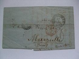 GERMANY - 1864 Entire - Hamburg To Marseilles France - Forbach And Paris Transit Marks - [1] Precursores
