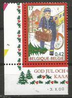 Belgium - 2000 Christmas MNH **    Sc 1835 - Unused Stamps