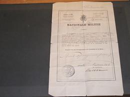 OOST VLANDEREN-DENDERMONDE-NATIONALE MILITIE 28/9/1898-STEEMAN Adolf Geboren 20/12/1872- Tirage Au Sort Milice - Unclassified