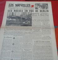 Nouvelles Du Mation 13 Avril 1945 Russes En Vue De Berlin, Procés Dentz, Déportés De Buchenwald - Journaux - Quotidiens