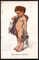 6418 - Künstlerkarte Nr. 24  - Ich Komme Zur Garde - Siegfried Bäcker - SBC - Gel Bad Nauheim 1918 Stempel - Autres Illustrateurs