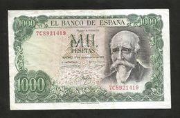 ESPANA / SPAIN / SPAGNA - El BANCO De ESPANA - 1000 PESETAS (1971) - ECHEGARAY - 1000 Pesetas