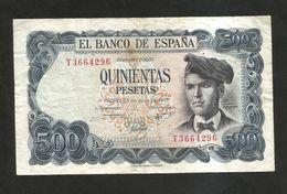 ESPANA / SPAIN / SPAGNA - El BANCO De ESPANA - 500 PESETAS (1971) - J. VERDAGUER - [ 3] 1936-1975 : Regime Di Franco
