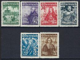Autriche, N° 431 à 436 * TTB - Neufs