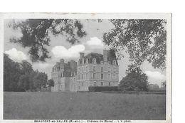 4 Cpa. Châteaux Divers :Blaison, Bois-Lozé (Vern), Pin (Champtocé), Monet (Beaufort) - Autres Communes