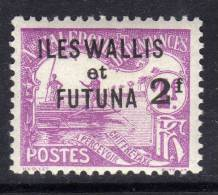 Wallis Et Futuna  Taxe N° 9  X  2 F. Sur 1 F. Violet  Trace De Charnière,  Sinon  TB - Unclassified