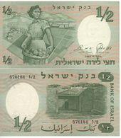 "ISRAEL  1/2  Lira     P29a   ""Woman Soldier""  UNC - Israel"