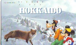 Télécarte  JAPON  DISNEY  (5971)  Phonecard Japan * TK *110-164239 - Série Voyage Au Japon N° 2 - Hokkaido * RENARD - Disney