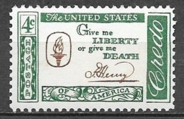 1961 4 Cents Credo - Henry Mint Never Hinged - Verenigde Staten
