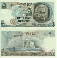 "ISRAEL  5  Lirot     P34b   "" Albert Einstein ""   1968  UNC - Israel"