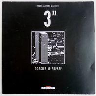 """DOSSIER DE PRESSE 3"""" MARC ANTOINE MATHIEU DELCOURT 2010 - Livres, BD, Revues"""