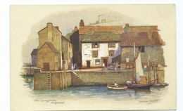Cornwall Rp Postcard Polperro Artist Signed Anne Croft. The Quayside . Unposted.vivian Mansell Series - England