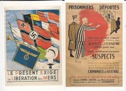LOT DE 4 REPRO AFFICHES WWII F.T.P.F. BOLCHEVISME PRISONNIERS DEPORTES CROIX GAMMEE  ACHAT IMMEDIAT PRIX FIXE - Weltkrieg 1939-45