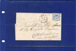 ##(ANT182)- 26-10-1865 - Siena -piego Privo Di Testo Affrancato Con Effigie  Cent.15 Non Dentellato Per Castelfiorentino - Marcophilia