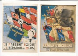 LOT DE 4 REPRO AFFICHES WWII F.T.P.F. LEGION TRICOLORE PRISONNIERS DEPORTES CROIX GAMMEE  ACHAT IMMEDIAT PRIX FIXE - Weltkrieg 1939-45