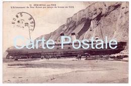 76 - Lot De 4 CPA - Berneval-Sur-Mer - Dieppe - Naufrage Du Newhaven - Échoué Le 05 Août 1924 - Dieppe