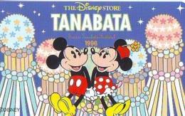 Télécarte Japon * 110-178691 * THE DISNEY STORE (5974) TANABATA * MICKEY & MINNIE * JAPAN Phonecard * TIRAGE 5.000 - Disney