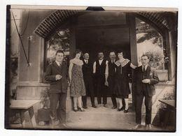 Photo Casino Arnouville Le 12 Juillet 1927 Val D'oise 95 , équipe En Pause Cigarette !.. - Lieux