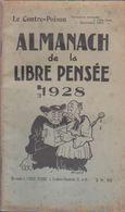 ALMANACH DE LA LIBRE PENSÉE 1928 - Autres Collections
