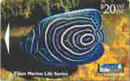 FIJI : 056 $20 Fijian Marine Life Emperor Angle Fish USED - Fiji