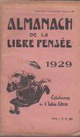 ALMANACH DE LA LIBRE PENSÉE 1929 - Autres Collections