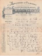 Facture 1902 / HARDY LEBEGUE / Minoterie / Moulin / Moulin Le Blanc Par Mohon / 08 Ardennes - Other