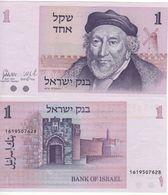 "ISRAEL  1  Sheqel     P43   "" Sir Moses Montefiore ""   1978    UNC - Israel"