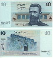"ISRAEL  10  Sheqalim    P45   "" Dr. Theodor Herzl ""   1978    UNC - Israel"