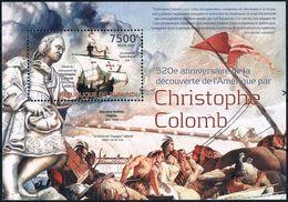 Bloc Sheet Bateaux Voliers Sailing Ship Colomb Neuf MNH ** Burundi 2012 - Christopher Columbus