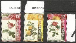 Belgium - 1997 Roses MNH **    Sc 1654-6 - Unused Stamps