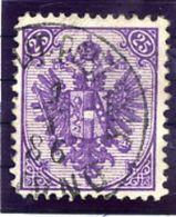 BOSNIA & HERZEGOVINA 1879  25 Kr. Bright Violet Typographed, Perforated 12½ Used,  SG 79, Michel 7 Ig A - Bosnia And Herzegovina