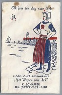 Suikerzakje.- Urk. Hotel Café Restaurant - Het Wapen Van Urk - K. SCHÄFFER. - Sugars